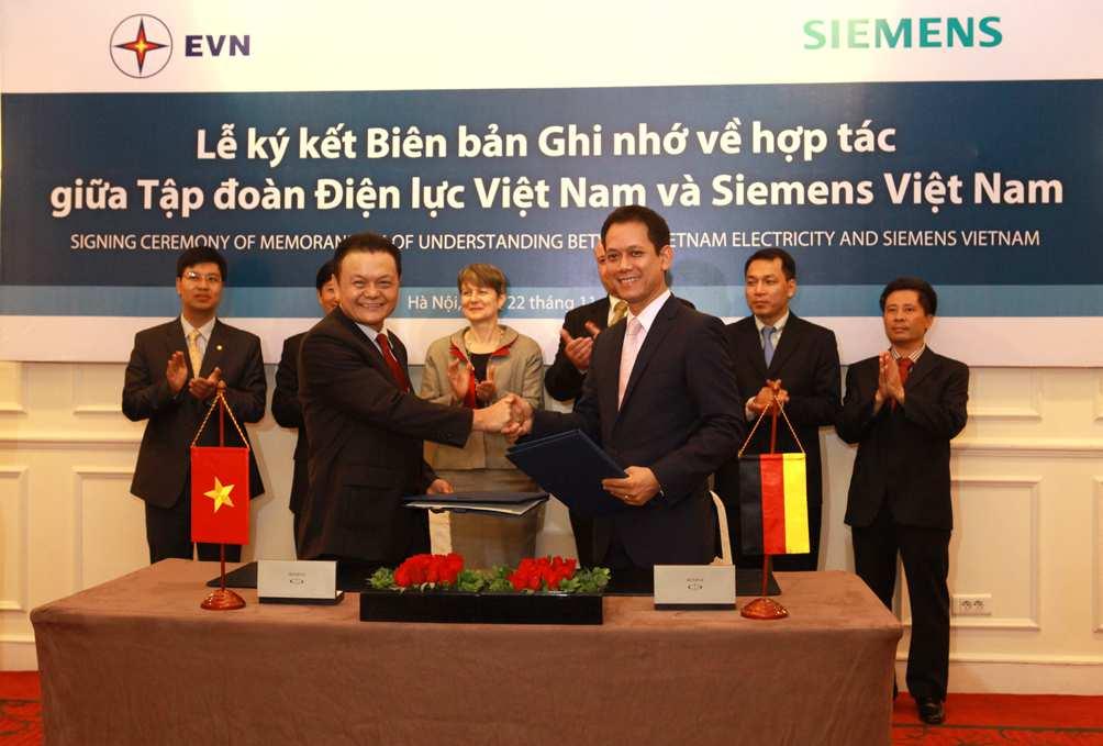 Lế kỹ kết giữa siemen và điện lực Việt Nam