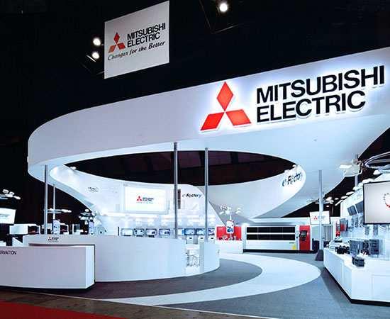Gian hàng triển lãm Mitsubishi