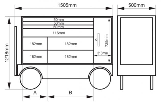 Kích thước chi tiết BAHCO 1475KXXL8CWTSS